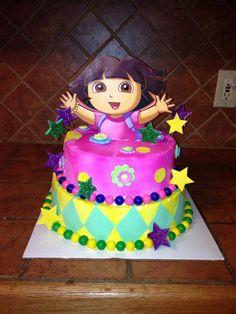 Dora cake @Sherilyn Borders   Sophie says she likes this one LOL