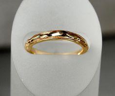 14K Gold Organic Form Wedding Band - riccoartjewelry.com  - 1