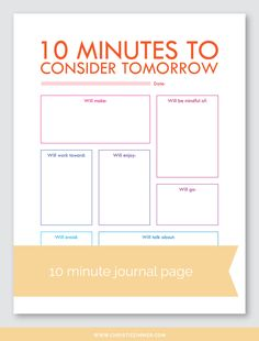 10 Minute Printable Guided Journal Pages — Christie Zimmer Bujo, Therapy Worksheets, Therapy Activities, Daily Journal, Journal Pages, Nature Journal, Journal Writing Prompts, Art Journals, Writing Tips