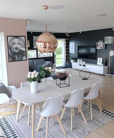 Home Inspiration // Fruspilde The Perfect Scandinavian Style Home Interior Design Living Room Warm, Dining Room Design, Decor Interior Design, Interior Ideas, Green Dining Room, Design Room, Salon Design, Interior Modern, Luxury Interior