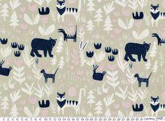 Tkanina EKO Lore Forest Animals Cloud9 - 13C-EKO-FORESTANIMAL - Craftoholic SHOP