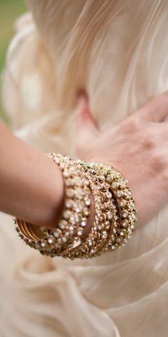 ♔ rose gold bangles