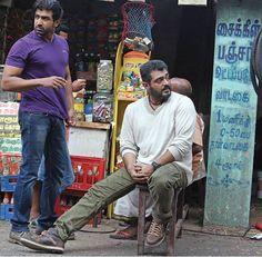 Ajith Kumar and Arun Vijay at Thala 55 Location