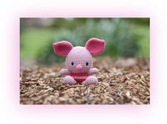 Fat Face Piglet - by Xuan Nguyen Kawaii Crochet, Crochet Disney, Cute Crochet, Crochet For Kids, Crochet Yarn, Crochet Toys, Crochet Animals, Doll Face, Crochet Projects