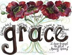 Grace by Faith. Scripture Art, Bible Art, Bible Scriptures, Bible Quotes, Qoutes, Christian Art, Christian Quotes, Bibel Journal, Gods Grace