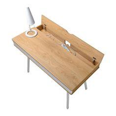 Desk Storage, Built In Storage, Home Office Desks, Office Furniture, Office Workspace, Office Table, Pallet Furniture, Woodworking Jig Plans, Woodworking Videos