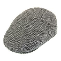The Jaxon Herringbone Flat Cap in grey is a true classic. This beautifully styled five point flat cap in grey herringbone is made of a high quality wool blend and completely lined in satin. For comfort there is a grosgrain ribbon sweatband inside the cap. A removable Jaxon logo pin can be found on the left side of the cap.   Hat Details:  - Made of 40% wool / 60% polyester - Lined in satin - Grosgrain ribbon sweatband - Removable Jaxon pin - Single snap brim