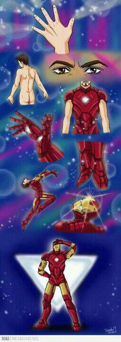 What if Iron Man puts on his armor using Sailor Moon Style?