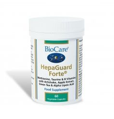 HepaGuard Forte® is a specialist combination including Choline Bitartrate, Inositol, Sodium Sulphate, Artichoke Extract, Taurine, Apple Extract and L-Methionine. This product is suitable for vegetarians and vegans.