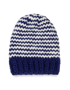 The Zion Lion hat in Blue/Ivory White / by Wool and the Gang