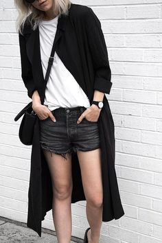 outfit inspo by @melo_and_co: black shorts, white tshirt | kapten-son.com