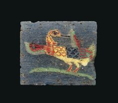 An Egyptian mosaic glass water fowl inlay Ptolemaic-Roman period, C C AD. Mosaic Glass, Glass Art, Ancient Egyptian Art, 1st Century, Egyptian Jewelry, Historical Art, Ancient Artifacts, Antique Glass, Flight Feathers