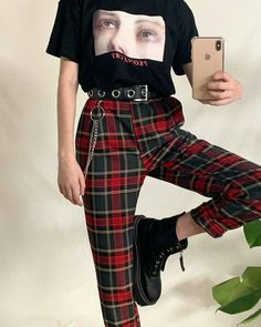 Source by kgminman sweater outfit grunge Style Outfits, Teen Fashion Outfits, Cute Casual Outfits, Edgy Outfits, Mode Outfits, Retro Outfits, Vintage Outfits, Girl Outfits, Red And Black Outfits