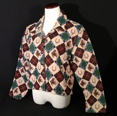 Dont Mess With Texas Equestrian Horseshoes Womens Large Tapestry Jacket #DontMessWithTexas #BasicJacket