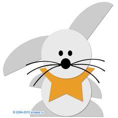 Аппликация зайца