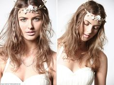 Boho Chic hairstyle with headpiece