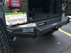 Upper view of #smittybilt rear bumper on 2016 #JeepWrangler