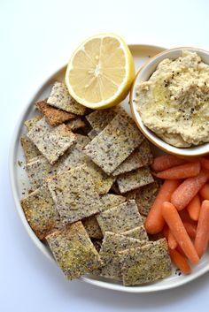 Homemade Grain Free Everything Crackers (paleo and vegan!)