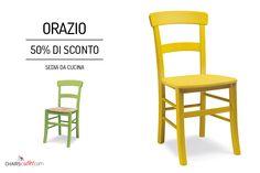 € 58,00 #SCONTO 50% Made in #Italy #sedia #rustica ORAZIO disponibile con seduta in #paglia o in #legno massello; nei colori del legno o #colorata. Perfetta per #arredare la #cucina in stile #country, #shabby o #provenzale. Comprala online su www.chairsoutlet.com