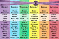 waldorf daily rhythm | New First Grade Schedule | Wonder in the Woods