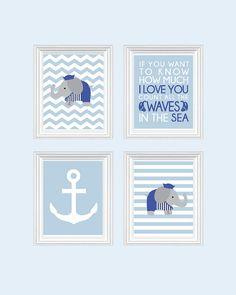 I like that quote.     Nautical Nursery art  Baby Boy Nursery Art by SweetLittleBarn, $49.99