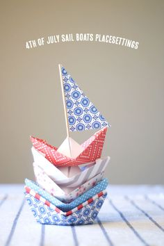 4th of July Sail Boats Placesetting