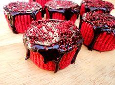 Mini Red Velvet Cake Batter Cheesecakes