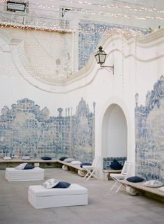 What a stunning spot for a reception in Portugal! - www.buyantlerchandelier.com