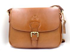 New Handmade Veg Tan Lady S Leather Cross Body Bag Oil Tanned Buffalo