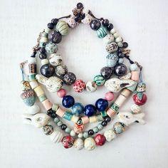 Ceramic beads by Murava.  Керамические глазурованные бусы и бусины #murava#pottery#jewellery#handmade#ceramics #ceramic#vintage#glaze# #bead#beads #fruit#red#apple#fashion #bijou #бусы #бусины#керамика #керамикаручнойработы #украшения #украшение