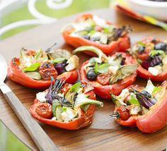 Pepper & feta parcels recipe - Recipes - BBC Good Food