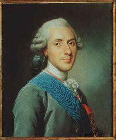 """Le Dauphin Louis Ferdinand, fils de Louis XV et père de Louis XVI. Ce portrait le montre amaigri par la maladie, lui qui avait toujours été assez corpulent. Tout comme sa mère la reine Maria Leszczynska, le Dauphin fut profondément religieux, spécialement dévoué au Sacré Coeur.À l'insu de son père mais tout comme Louis XVI, il connu une sainte mort à l""""âge de 36 ans, la tuberculose abrégeant ainsi le destin de celui qui eut été roi de France à la mort du """"Bien ..."""