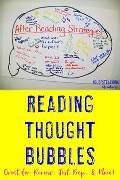 Are you looking for a way to reinforce reading concepts with your 3rd, 4th, 5th, or 6th grade students? Click through to see how this simple Reading Thought Bubble activity can work in your classroom! {Plus it's a great reference even AFTER the activity a