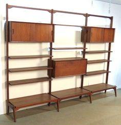 American Walnut Wall Unit : Lot 10 | modern casework, storage ...