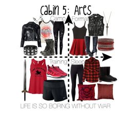 """Cabin 5: Ares"" by aquatic-angel on Polyvore featuring Bee Goddess, Yves Saint Laurent, WithChic, Junk Food Clothing, Steve Madden, R13, Majorica, Jimmy Choo, NIKE and Jockey"