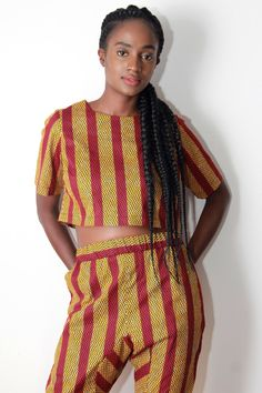 Marsha Stripe Out Crop Top by BERIQISU on Etsy https://www.etsy.com/listing/208190140/marsha-stripe-out-crop-top