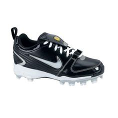 SALE - Womens Nike Air Unify Pro Softball Cleats Black Leather - Was $69.99 - SAVE $50.00. BUY Now - ONLY $19.98