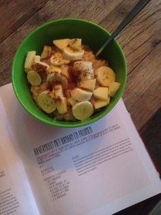 Havermout met appel Banaan en kaneel  #rens kroes # healthy food
