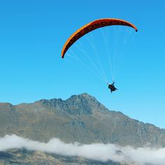 Soaring above the mountains on a perfect Autumn day.seems like a bloody great idea to us! Whitewater Rafting, Adventure Activities, Paragliding, Skydiving, Boat, Autumn, Mountains, Dinghy, Fall