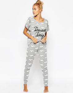 Пижамный комплект с футболкой и леггинсами ASOS DuvetDay
