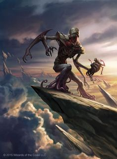 Barrage Tyrant by ChrisRallis giant demon devil god deity monster beast creature animal | Create your own roleplaying game material w/ RPG Bard: www.rpgbard.com | Writing inspiration for Dungeons and Dragons DND D&D Pathfinder PFRPG Warhammer 40k Star Wars Shadowrun Call of Cthulhu Lord of the Rings LoTR + d20 fantasy science fiction scifi horror design | Not Trusty Sword art: click artwork for source