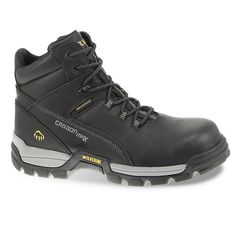 Wolverine Tarmac Men's Waterproof Composite-Toe Work Boots, Size: 14 Med, Black