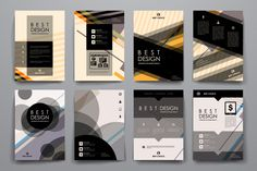 Set of Abstract Brochures by Palau on @creativemarket