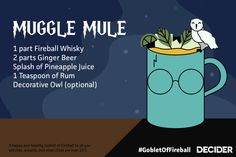 Celebrate the anniversary of Harry Potter and the Goblet of Fire with five Harry Potter inspired alcoholic beverages in what we're calling the 'Goblet. Alcohol Games, Party Drinks Alcohol, Alcohol Drink Recipes, Cocktail Drinks, Fun Drinks, Alcoholic Drinks, Harry Potter Treats, Harry Potter Food, Harry Potter Theme