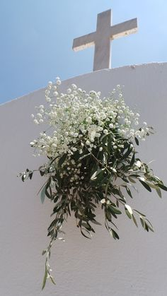A white Greek church in the wilderness so happy to be all dressed up - islandevents.gr creating beautiful weddings in Naxos