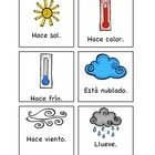 Weather flashcards to print for class.  Great for games, too.