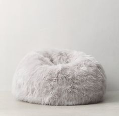 Restoration Hardware Teen Kashmir Faux Fur Bean Bag - messenger bags, shop for bags, mens bags *ad