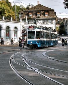 Zurich tram by Jim Hill, via 500px