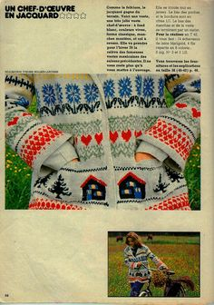 Peut-être issu du numéro 24 (je ne doute pas de votre perspicacité, la précision viendra par les commentaires), une veste chef-d'oeuvre, un véritable manifeste, une ode au jacquard, mais qui reste portable, voire intemporelle. Plus de détails ? Les explications... Knitting Charts, Knitting Patterns Free, Hand Knitting, Free Pattern, Knitting Ideas, Chef D Oeuvre, Le Chef, Fair Isle Knitting, Looking For Women