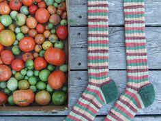 tomato season socks by knitting iris, via Flickr